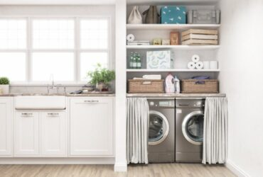 4 quirky kitchen-laundry room ideas for tight spaces