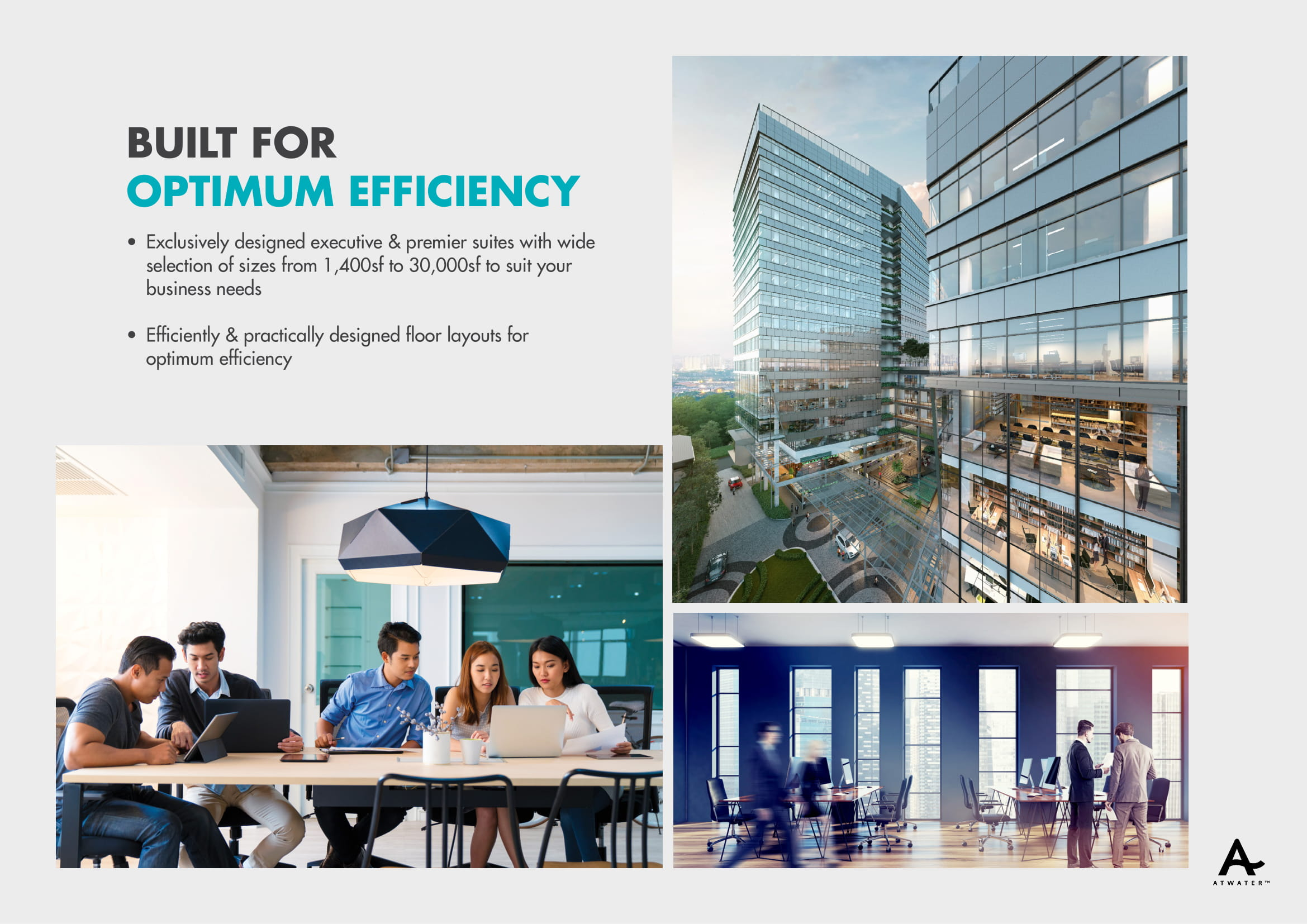 [NEW] ATWater PREMIUM Office @Midtown PJ / 1418-16,556 ft² / Basic – from RM900psf