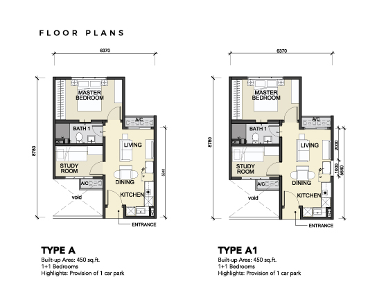 [NEW] PLAZA @Kelana Jaya / 450 sq.ft / 2-Rooms / Basic – RM420,000