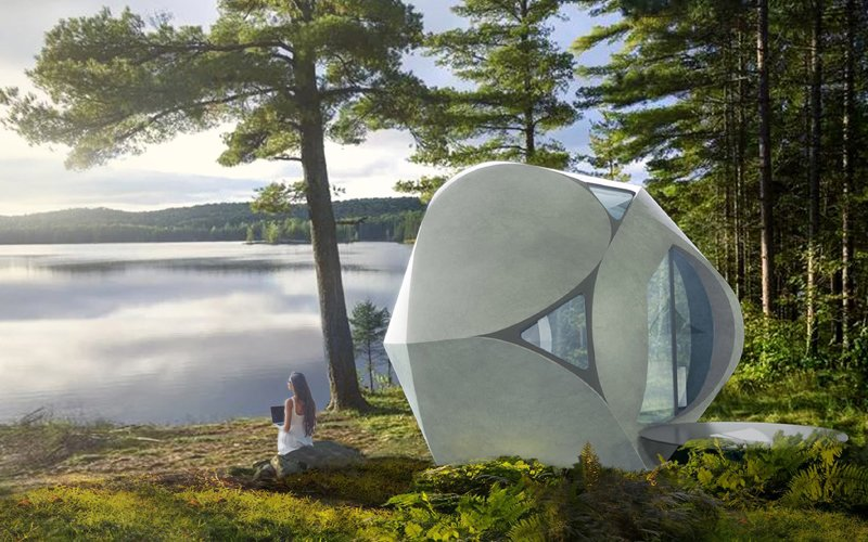 Future houses resemble honeycomb cells and cost as much as a car