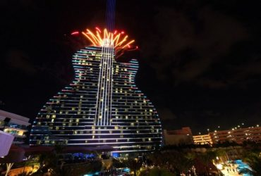 Hard Rock's guitar-shaped hotel opens its doors in Florida