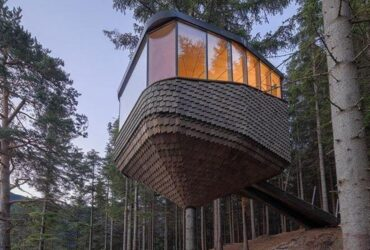 Tiny houses set among trees make for a great escape